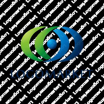 眼と未来と地球のロゴ