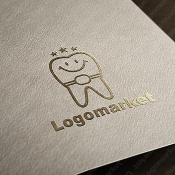 歯とキャラクターと矯正のロゴ