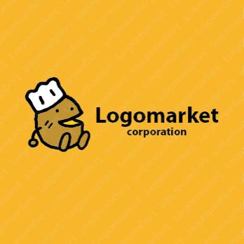 コロッケと惣菜と揚げ物のロゴ