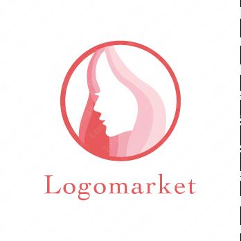 女神と女性とエレガントのロゴ