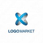 立体的とXとつながりのロゴ