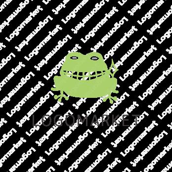 蛙とキャラクターと歯のロゴ