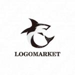 動物とシンプルとシャークのロゴ