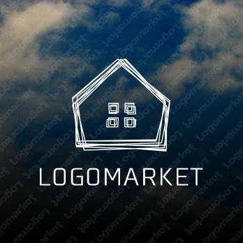 家と手描き風と優しいのロゴ