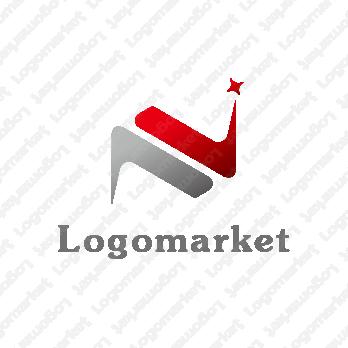 Nと輝きと成長のロゴ