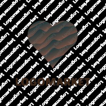 バレンタインとチョコレートと飲食のロゴ