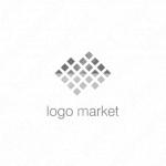 ピクセルと山とミニマルラインのロゴ