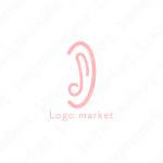 音楽と耳と音符のロゴ