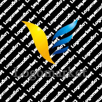 翼と輝くと飛び立つのロゴ