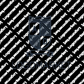 盾とエンブレムと高級感のロゴ