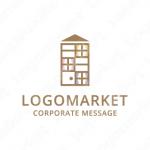 シェアハウスとマンションと家のロゴ