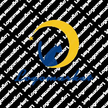 猫と月とシルエットのロゴ