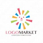 キャラクターと動物とカラフルのロゴ