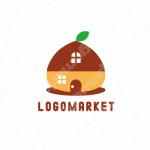 家と宿と木のロゴ