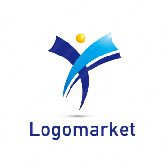 Yと人と躍動のロゴ