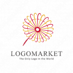 花と風と刺繍のロゴ