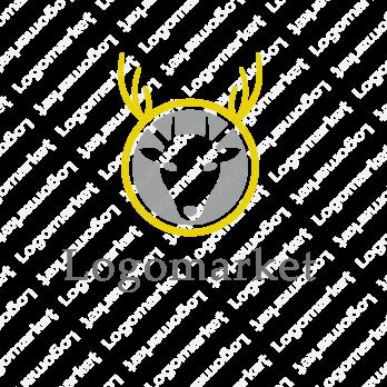 動物と鹿とユニークのロゴ