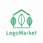家と植物とナチュラル シンプルのロゴ