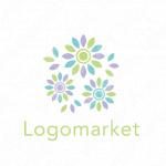 花と清涼感とリフレッシュのロゴ
