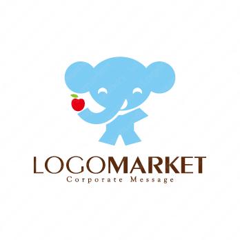 動物とキャラクターとゾウのロゴ