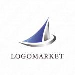 前進と帆と幸運のロゴ
