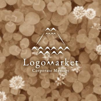 カモメと富士山と幸運のロゴ