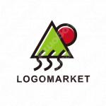 シンプルとミニマルと自然のロゴ