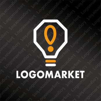 ヒラメキと電球とアイデアのロゴ
