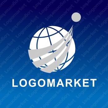 地球と発展とグローバルのロゴ