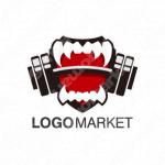 牙と強いとフラットラインのロゴ