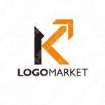 Kと矢印と上昇のロゴ