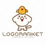 犬とひよことキャラクターのロゴ