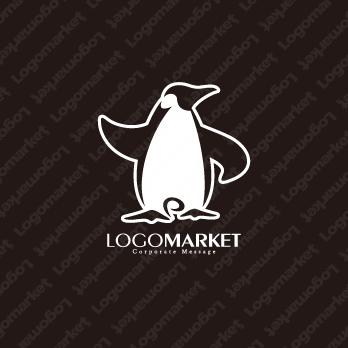 Pとペンギンとキャラクターのロゴ