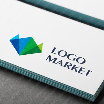 ネイチャーとシンプルと折り紙のロゴ