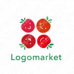 りんごと笑顔と親近感のロゴ