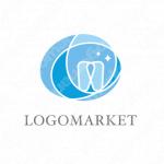 歯とシンプルと輪のロゴ