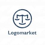 天秤と笑顔と弁護士のロゴ
