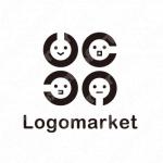 ランドルト環と眼科とキャラクターのロゴ