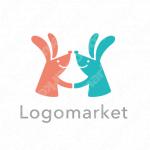ウサギとコミュニケーションと繋がりのロゴ