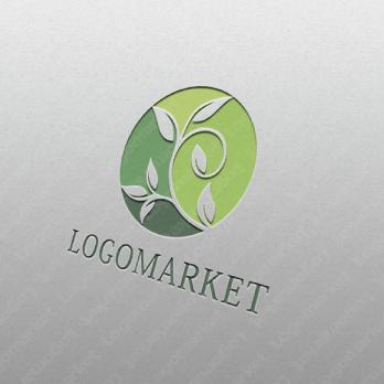 葉と緑と健康のロゴ