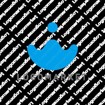 水と滴とドロップのロゴ
