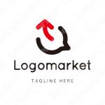 コミュニケーションと会話力と矢印のロゴ