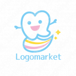 歯と歯磨きと輝きのロゴ