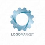 歯車と回転と未来のロゴ