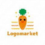 にんじんと畑と栄養のロゴ