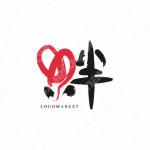 絆と繋がりとハートのロゴ
