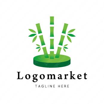 竹林と和と成長のロゴ