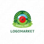 トマトと穂と環境のロゴ