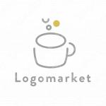 カップとカフェとナチュラルのロゴ