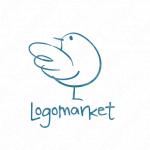 小鳥と希望と手描きのロゴ